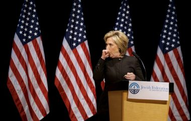 Hillary Clinton coughing fit