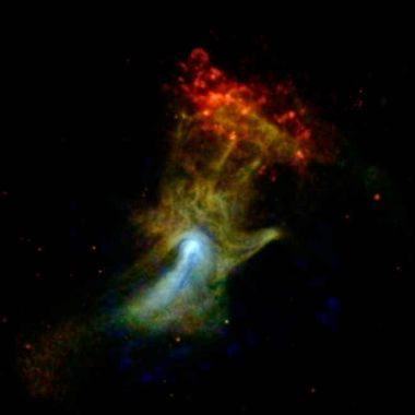 'Hand of God' image in space