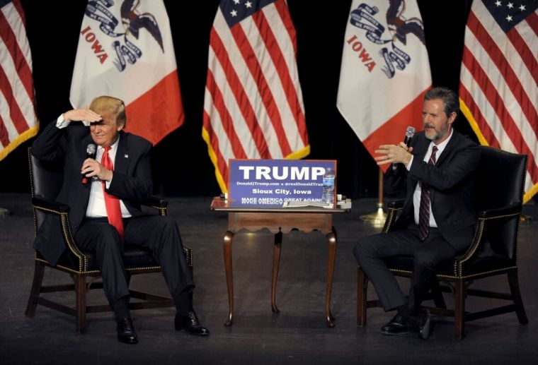 Donald Trump and Jerry Falwell Jr