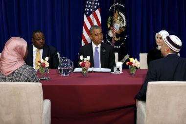 Obama meets Muslim leaders