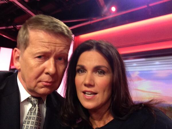 Bill Turnbull Twitter selfie with Susanna Reid