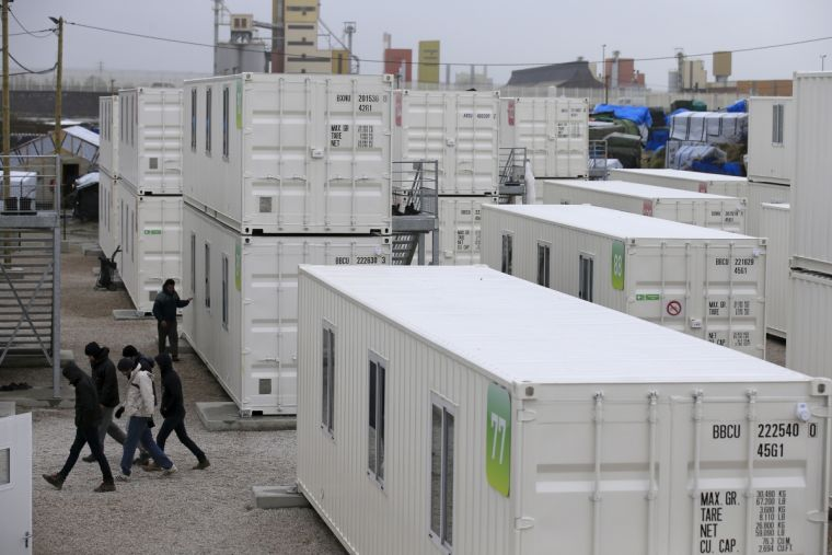 Calais Jungle shipping containers