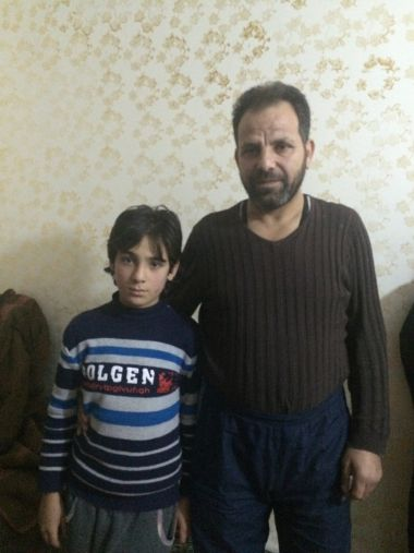 Syria father and son