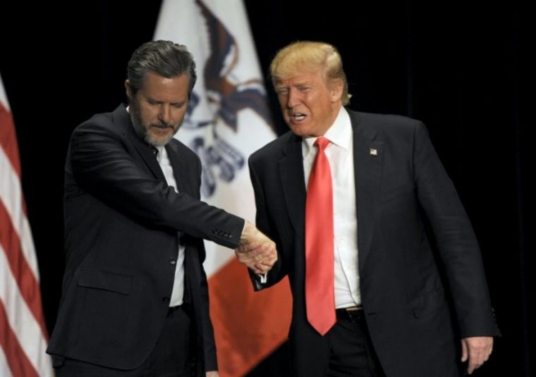 Falwell with Trump