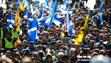 Scotland pro-independence supporters