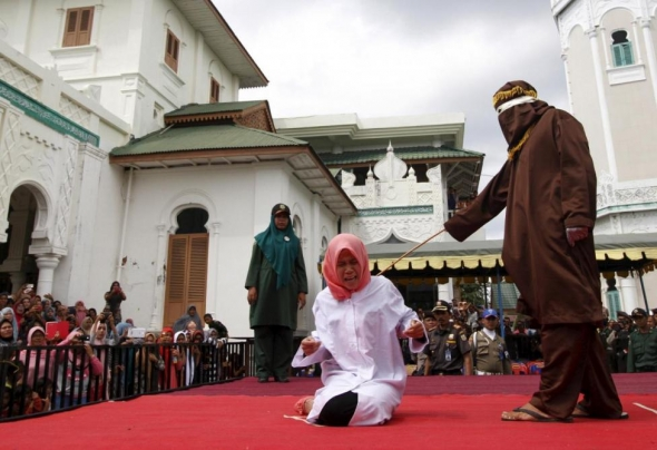 Indonesia caning