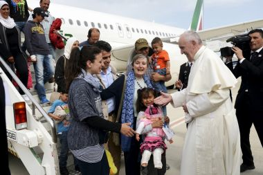 Pope Francis and Syrian refugees