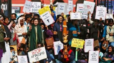 Anti-persecution protest in India