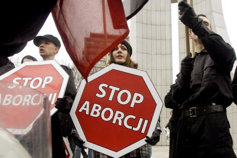 Anti-abortion rally in Poland