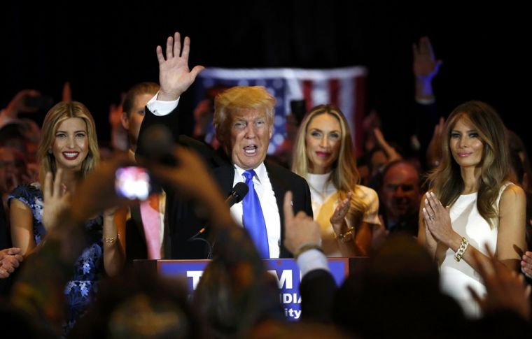 Trump victory rally after Indiana primary