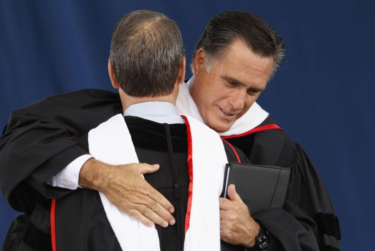 Mark DeMoss and Mitt Romney