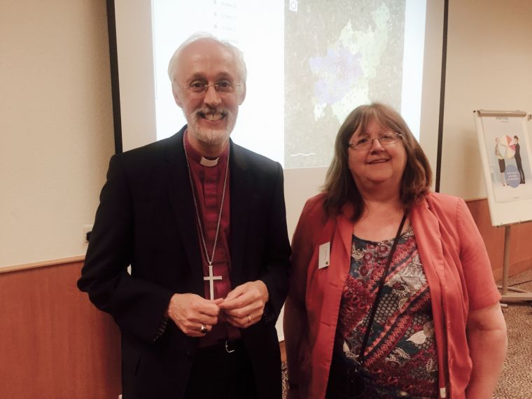 Bishop of Manchester David Walker and Bev Botting