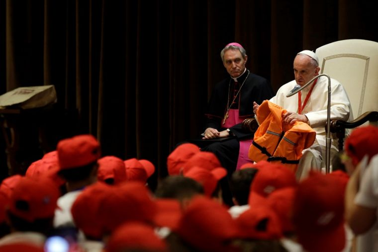 Pope Francis talks to youth