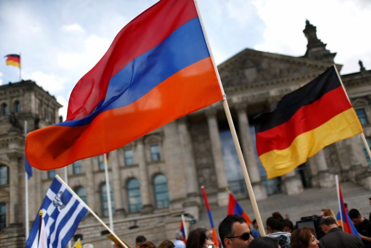 Armenian and German flags