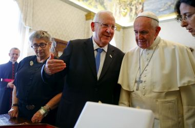 Pope Francis raised the schools funding crisis with Israel's President Reuven Rivlin last September.