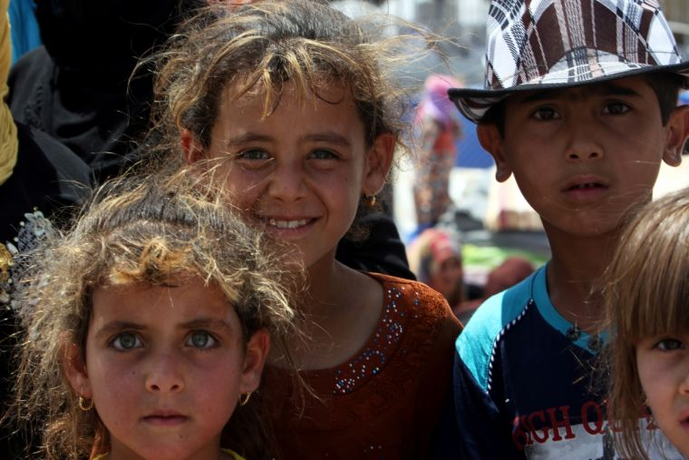 Refugee children from Mosul