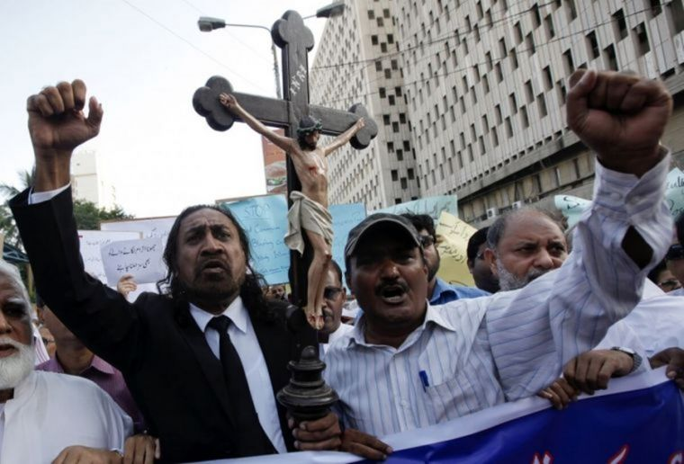 Christian protest rally in Pakistan