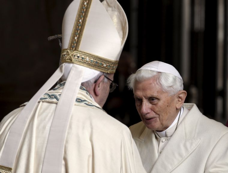Pope Benedict and Pope Francis