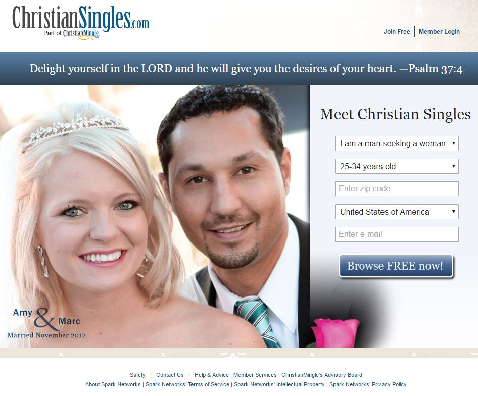 New christian dating site