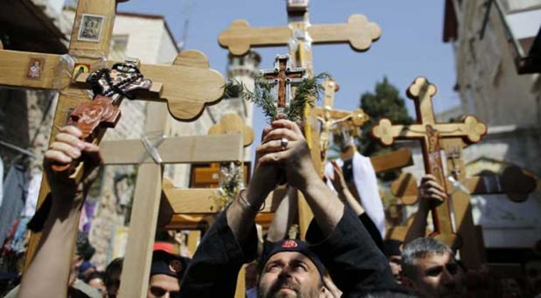 Good Friday procession in Israel