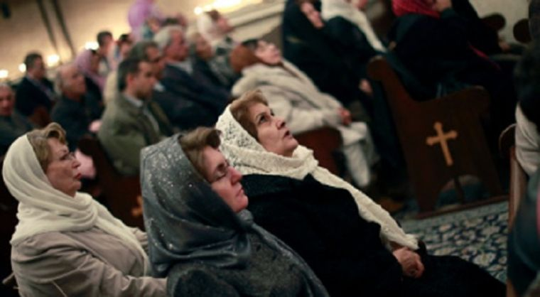 Christian worshippers in Iran