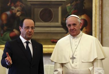 Pope Francis and Francois Hollande