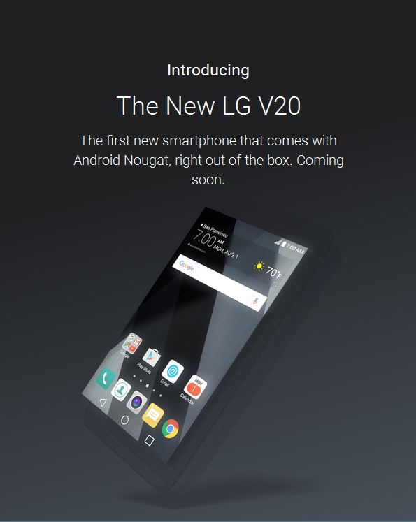 LG V20 release date, specs news: handset is first non ...