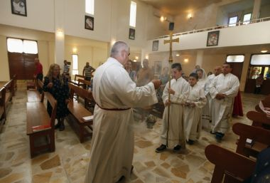 Mass at St. Joseph Chaldean Church in Baghdad in 2014 when Chaldean Patriarch Louis Raphael I said the Islamic State militants who drove Christians out of Mosul were worse than Mongol leader Genghis Khan and his grandson Hulagu who ransacked medieval Bagh