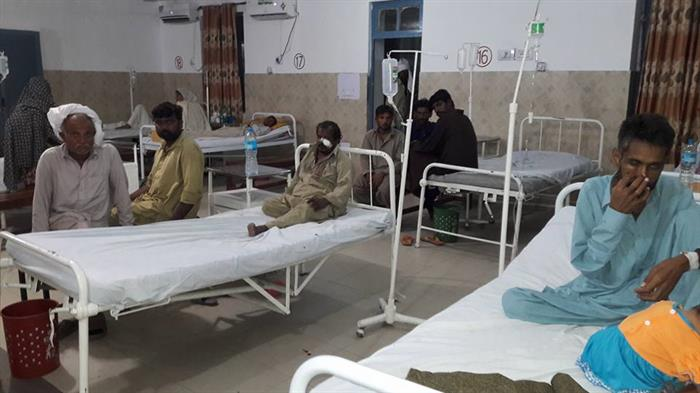 Christian victims of a Muslim beating recovering in hospital in Pakistan.