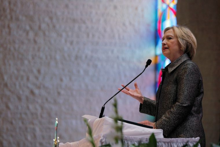 Hillary Clinton at Little Rock AME Zion Church in Charlotte