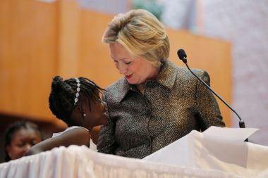 Hillary Clinton and Zianna Oliphant