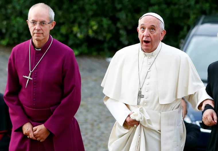 Pope Francis and Archbishop of Canterbury