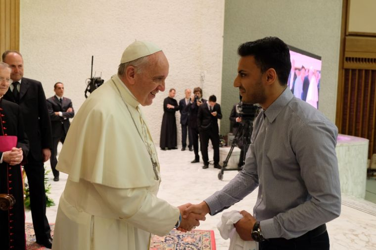 Kashif Siddiqi with Pope Francis in Rome