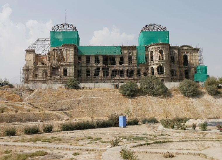 The ruins of Darul Aman Palace in Afghanistan