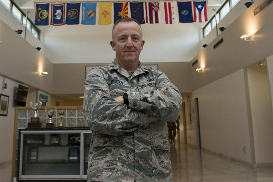 U.S. Air Force Lt. Col. Michael Kersten, 39th Medical Support Squadron commander, poses for a photo inside the medical facility at Incirlik Air Base,