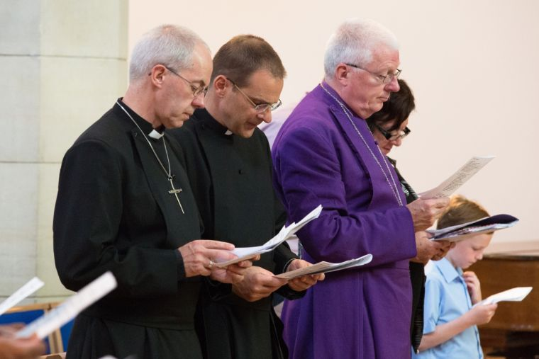 Bishop of Willesden Pete Broadbent, third from left.