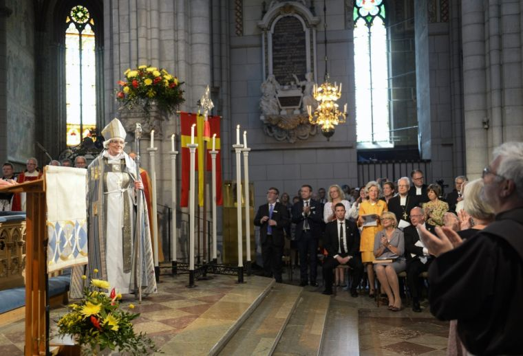 Antje Jackelen, Archbishop of the Church of Sweden, at Uppsala Cathedral