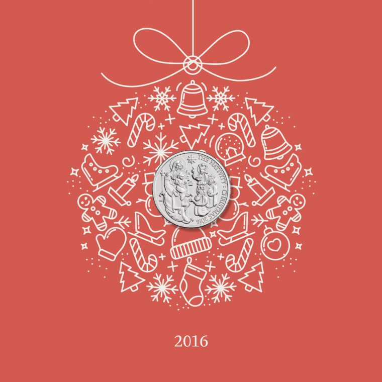 The UK's first official Christmas coin, designed by Bishop of St Asaph Gregory Cameron