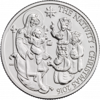 The new Christmas coin depicts the Magi