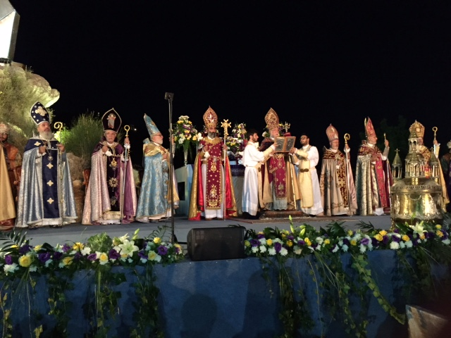 Bishop Gregory Cameron took this photograph last summer of the Catholicos of the Armenian Orthodox Church of the See of Cilicia getting ready to bless the Holy Oil, or Myron. It's a rite performed every seven years. Myron, or myrrh, was one of the gifts
