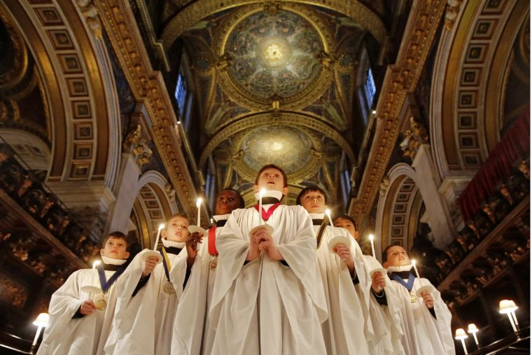 Choristers of St Paul's Cathedral sing Christmas carols