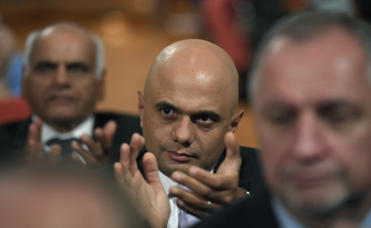Britain's Communities Secretary Sajid Javid