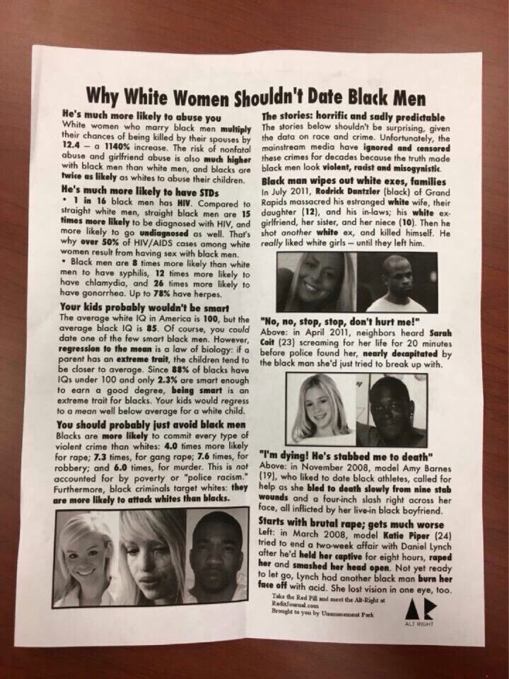 Why White Women Shouldnt Date Black Men - Racist -3846