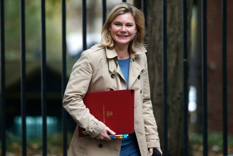 Education Secretary Justine Greening arrives in Downing Street for a cabinet meeting