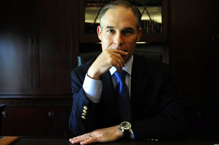 Scott Pruitt in his office of Oklahoma Attorney General in Oklahoma City