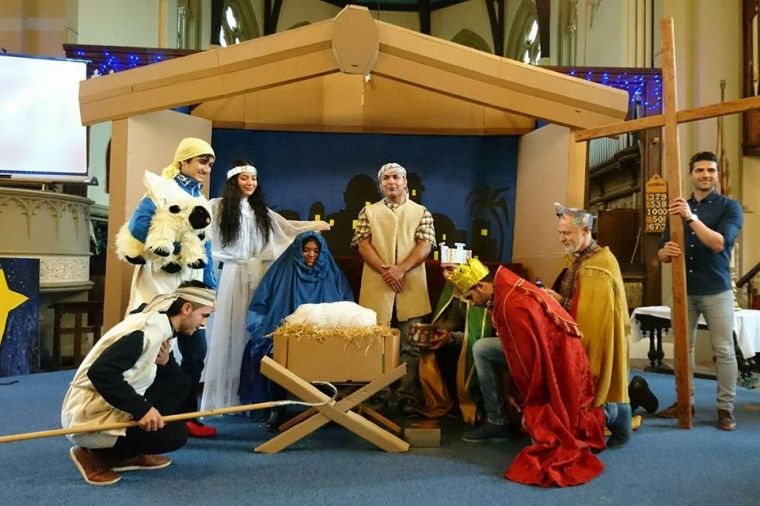 All but one of the people in this Nativity tableau are former Muslims spending their first Christmas as Christians