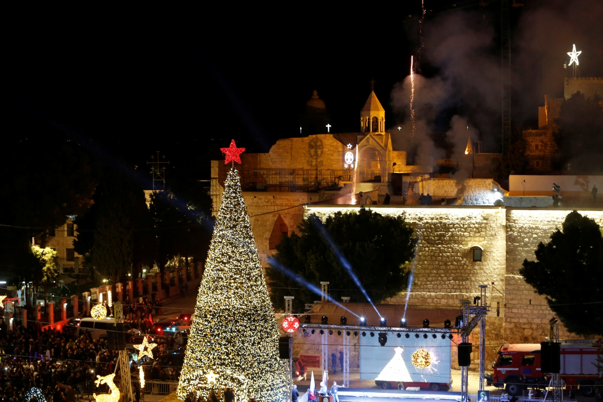 bethlehem lighting christmas trees. My Bethlehem: Why, As Its Biographer, I Remain Optimistic For This Special City | Christian News On Today Bethlehem Lighting Christmas Trees M