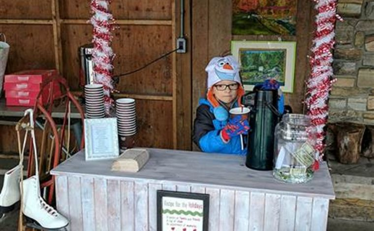 Matthew McDonnell's hot cocoa stand - boy with cancer
