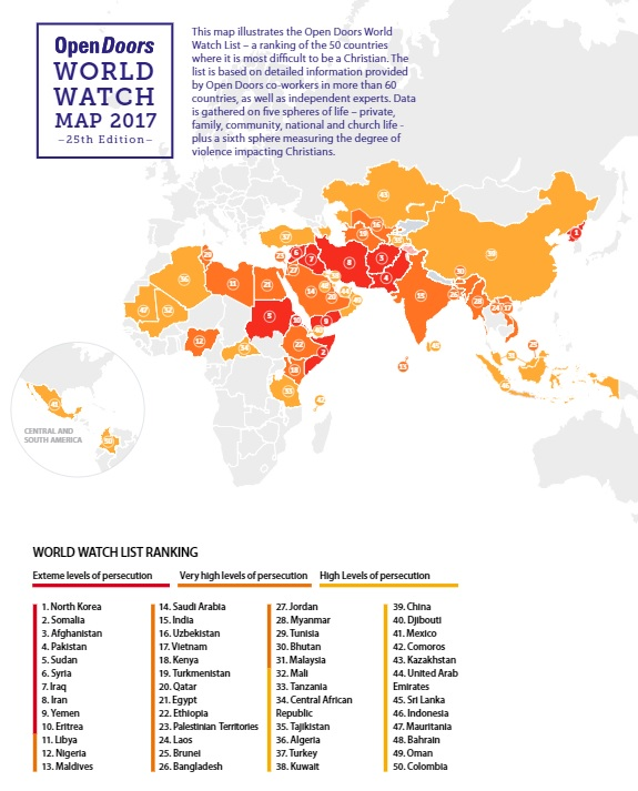 World Watch List 2017  sc 1 st  Christian Today & North Korea Heads Surge In Christian Persecution Worldwide Dramatic ...