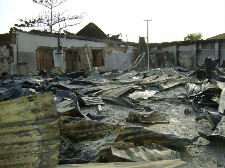 Church destroyed by Boko Haram